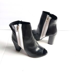OROSCURO made in Italy peep-toe booties